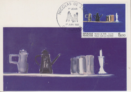 Carte  Maximum  1er  Jour    FRANCE   Oeuvre  De  Nicolas  De  STAËL    1985 - Cartoline Maximum