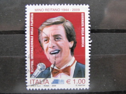 *ITALIA* USATO 2009 - GIORNATA MUSICA MINO REITANO - SASSONE 3137 - LUSSO/FIOR DI STAMPA - 6. 1946-.. Repubblica