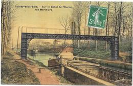 AULNAY SOUS BOIS: SUR LE CANAL DE L'OURCQ - LES MARINIERS - Aulnay Sous Bois