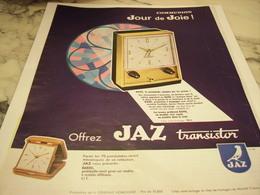 ANCIENNE PUBLICITE JOUR DE JOIE PENDULE UNE  JAZ 1965 - Bijoux & Horlogerie