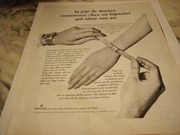 ANCIENNE PUBLICITE LA JOIE DE DONNER MONTRE  ROLEX 1965 - Autres
