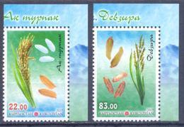 2017. Kyrgyzstan, Flora Of Kyrgyzstan, Rice, 2v Perforated, Mint/** - Kirgisistan