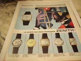 ANCIENNE PUBLICITE MONTRE ZENITH 1965 - Bijoux & Horlogerie