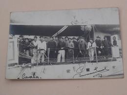 Bateau Le CAVALIER Villefranche ( Carte Photo / Marine Français ) Anno 19?? ( Voir Photo ) ! - Material