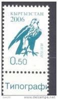 2006. Kyrgyzstan, Definitive, Falcon, 0.50, 1v, Mint** - Kirgisistan