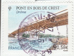 FRANCE 2011 PONT DE CREST OBLITERE A DATE SUR FRAGMENT YT 4544 - - France