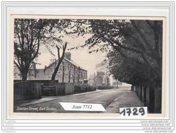 7221 AK/PC/CARTE PHOTO R.U. ANGLETERRE STATION STREET EARL SHILTON TTB - Leicester