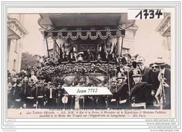 7226 AK/PC/CARTE PHOTO/1734/VOYAGE DES SOUVERAINS BELGES A PARIS/LA TRIBUNE OFFICIELLE/TTB - Case Reali