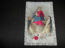 Devotieprentje ( G 808 ) Image Pieuse  Immaginette Sacre Image à Dentelles  Met Kant Gaufrée Reliëf - N.D. Du S. Rosaire - Imágenes Religiosas