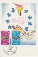 Carte  Maximum  1er  Jour   ANDORRE   Paire   EUROPA     1972 - Europa-CEPT