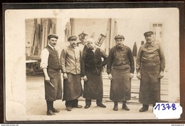 1378 CARTE PHOTO MENUISIERS A IDENTIFIER NC TTB - Cartoline
