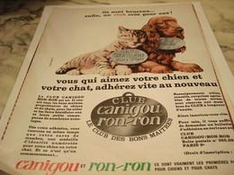 ANCIENNE PUBLICITE CLUB   CANIGOU ET RONRON 1965 - Autres Collections