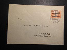 Generalgouvernement Mi. 30 Als EF Drucksache 6.6.1940 Nach Dessau - Occupation 1938-45