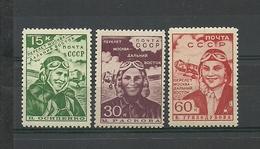 RUSSIA. URSS. 1939. Women Aviators, Moscow-Far East Flight. MNH OG - 1923-1991 URSS