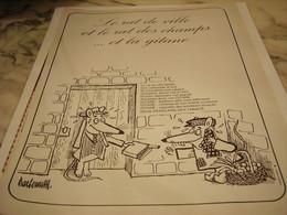 ANCIENNE PUBLICITE LE RAT DE VILLE ET LE RAT DES CHAMPS ET  GITANES 1965 - Tabac (objets Liés)