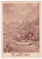 AK Fips Und Fine Mit Schiff Schiffchen Aus Papier (8073) - Mecki