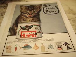 ANCIENNE PUBLICITE FIDO CHAT 1965 - Autres Collections