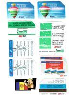 TELECARTES SCHEDE ITALIA LOT  10 TC. (5000L) - Italie