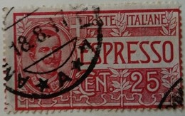 Italie Italy Italia 1903 Victor Emmanuel III Express Espresso Yvert 1 O Used Usato - Eilsendung (Eilpost)