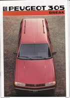 Peugeot 305 Break Gl, GLD, GR, SR, SRD, GTX,  1986 - Publicités