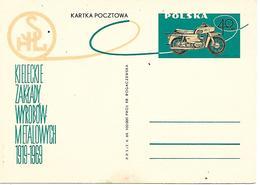COR186 - CARTOLINA POSTALE POLONIA -  MOTO MOTOCICLISMO - - Moto