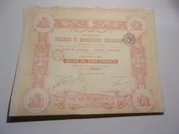 GRANDES TUILERIES ET BRIQUETERIES TOULOUSAINES (1914) - Azioni & Titoli