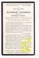 DP Eugenie Carbon ° Wijtschate Heuvelland 1851 † 1928 X Leopold Deleu - Andachtsbilder