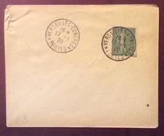 D3 Versailles-Congrès Postes Semeuse 15c 17/1/1920 - 1877-1920: Période Semi Moderne
