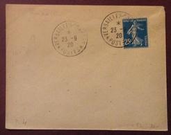 D4 Versailles-Congrès Postes Semeuse 25c 23/9/1920 - 1877-1920: Période Semi Moderne