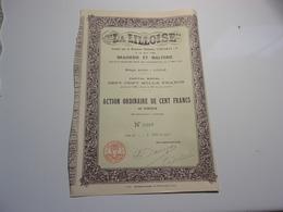 LA LILLOISE Brasserie Et Malterie (1910) Imprimerie RICHARD - Non Classés