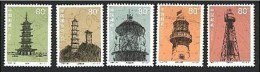 China 2002-10 Historical Relics - Lighthouse Stamps Relic Pagoda Map - Holidays & Tourism