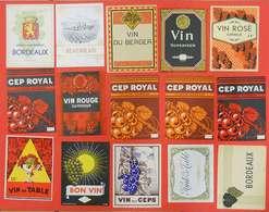 40 étiquettes De Vin Et Eau-de-vie Bon état Dehon & Cie Imprimeurs Paris-Valenciennes Old Wine Labels - Collections & Sets