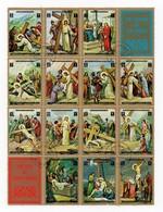 Erinnophilie Vignette Le Chemin De Croix La Vie De Jésus The Station Of The Cross The Life Jesus Le Bloc De 16 Vignettes - Erinnophilie