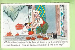 WALT DISNEY - PINOCCHIO N° 5 - Gepetto Envoie Pinocchio à L' école - TBE - 2 Scans - Disney