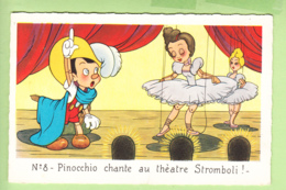 WALT DISNEY - PINOCCHIO N° 8 -  Pinocchio Chante Au Théâtre  Stromboli - TBE - 2 Scans - Disney