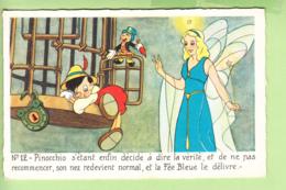 WALT DISNEY - PINOCCHIO N° 12 -  Pinocchio Dit La Vérité  à Jiminy Cricket Et La Fée Bleue Le Délivre - TBE - 2 Scans - Disney