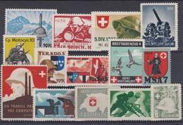 SUISSE 1939-45:   Lot De Timbres De Mobilisation (3 Scans), Neufs * - Soldaten Briefmarken