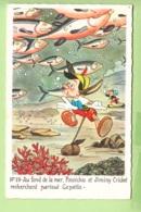 WALT DISNEY - PINOCCHIO N° 19 -  Pinocchio Et Jiminy Cricket Recherchent Gepetto Au Fond De La Mer - TBE - 2 Scans - Disney