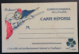 Carte De Franchise Militaire Belle Illustration Marianne Et Trèfle à 4 Feuilles - Postmark Collection (Covers)