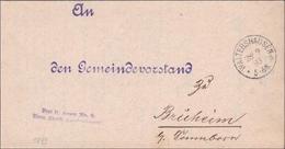 Sächsisches Landratsamt Waltershausen Nach Brüheim /Sonnenborn 1893 - Deutschland
