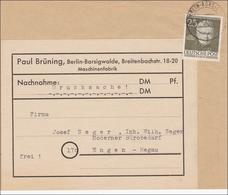 Nachnahme Drucksache 1954 Nach Engen, MiNr. 98 EF - Berlin (West)