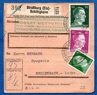 Colis Postal  /  Départ Strasbourg - Schiltigheim / 10-05-43 - Germany
