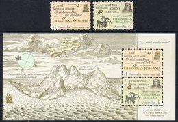 CHRISTMAS AUSTRALIE 865/66 Et Bf 55 William Dampier, Découverte 1643 Et 1688 - Exploradores
