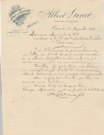 Algérie Facture Lettre Illustrée 29/11/1904 Albert GIRAT Vins ORAN - Factures & Documents Commerciaux