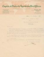 Algérie Facture Lettre Illustrée 16/10/1953 CVINA Comptoir Ventes Importations Nord Africain ORAN - Factures & Documents Commerciaux