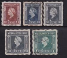 NETHERLAND-INDIES, 1945, Used Stamp(s), Queen Wilhelmina, NVPH 309-316, Scannr. 5402, - Netherlands Indies