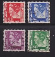 NETHERLAND-INDIES, 1938, Used Stamp(s), Queen Wilhelmina, NVPH 253=259, Scannr. 5405, 4 Values Only - Netherlands Indies