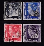 NETHERLAND-INDIES, 1938, Used Stamp(s), Queen Wilhelmina, NVPH 260=265, Scannr. 5406, 4 Values Only - Netherlands Indies