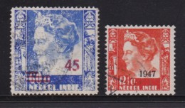 NETHERLAND-INDIES, 1947, Used Stamp(s), Queen Wilhelmina, NVPH 324, Scannr. 5407, 2 Values Only - Netherlands Indies