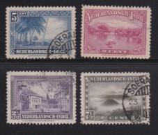NETHERLAND-INDIES, 1945, Used Stamp(s), Landscapes, NVPH 304=308, Scannr. 5408, 4 Values Only - Netherlands Indies